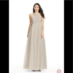 Azazie Kaleigh Taupe bridesmaid dress